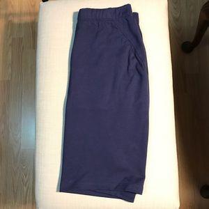 LAST CALL Navy Pencil/Mini Skirt